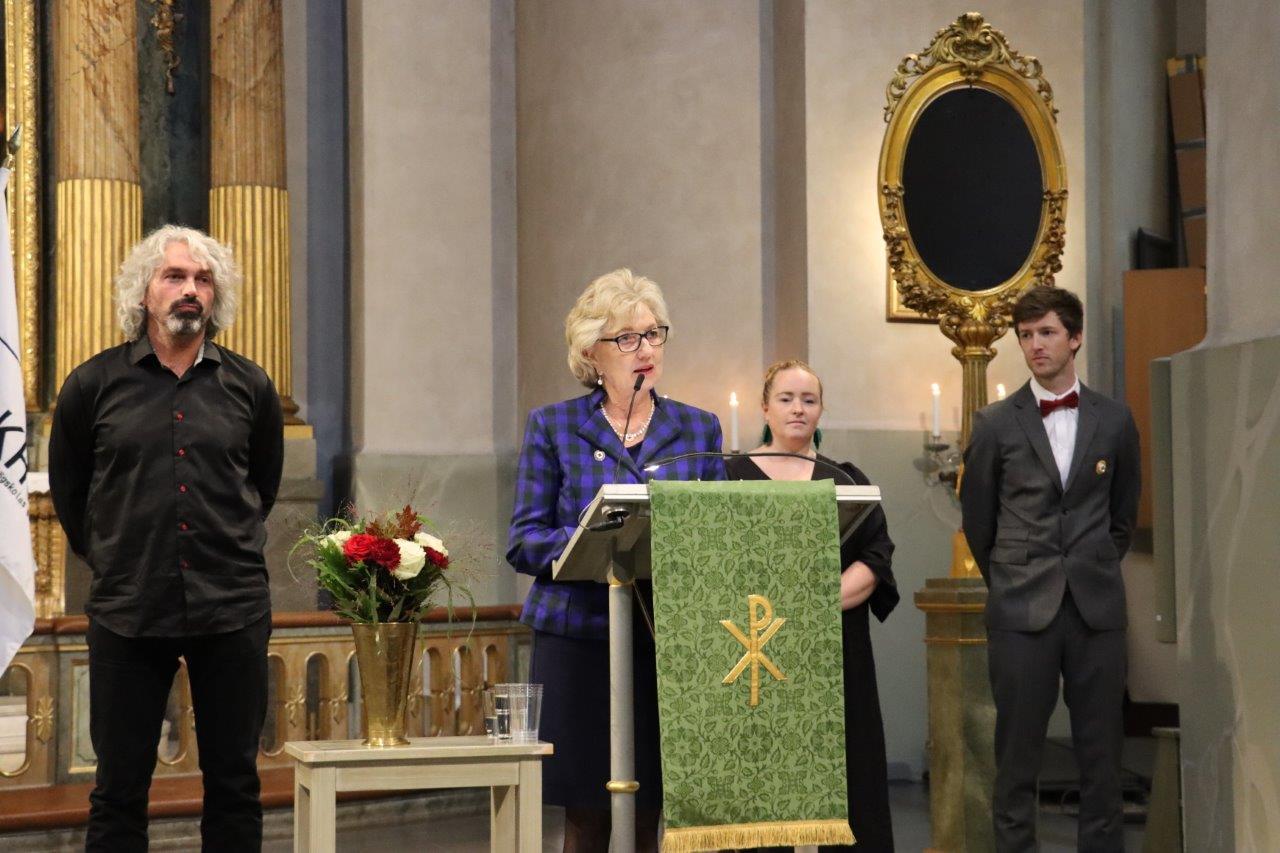 May Blom, ordförande för Rks